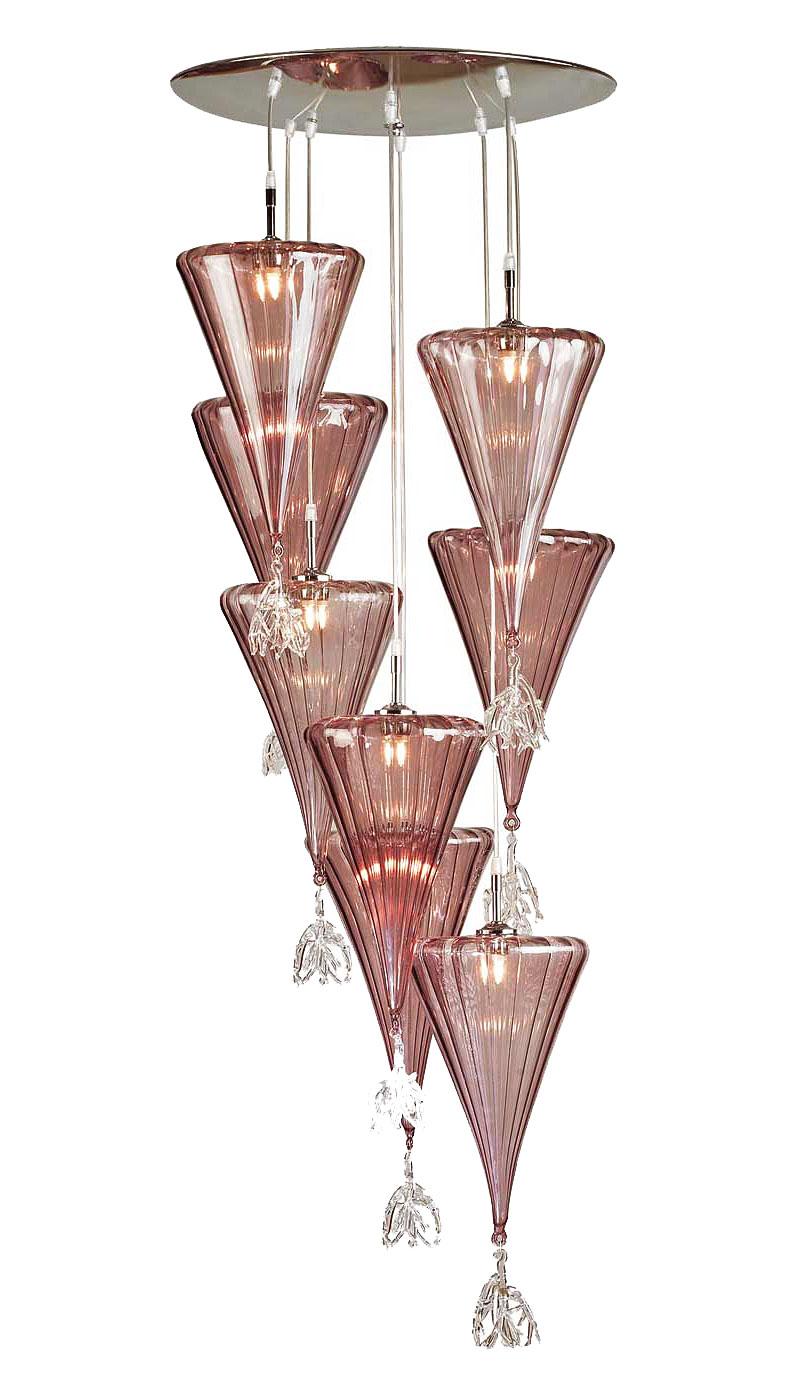 Люстра-подвеска муранского стекла