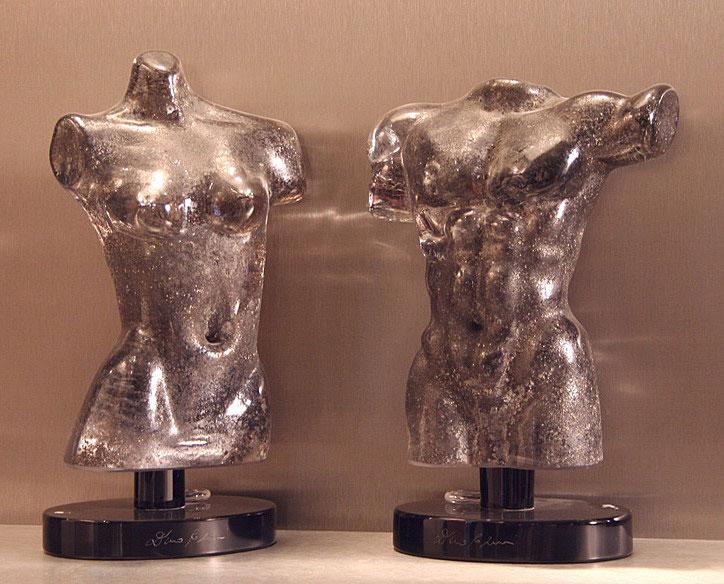 Фигуры мужчины и женщины муранского стекла