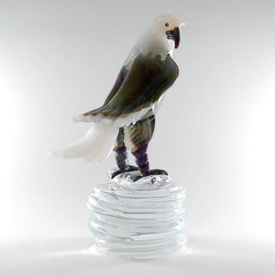 Молодой орел муранского стекла