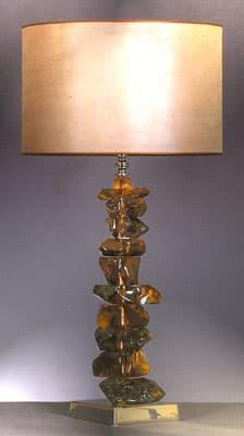 Настольная лампа  «Ghiaccio ambra»