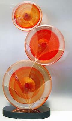 Абстрактная скульптура муранского стекла