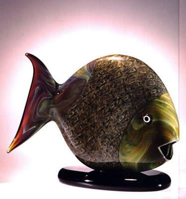 Скульптура рыбы муранского стекла