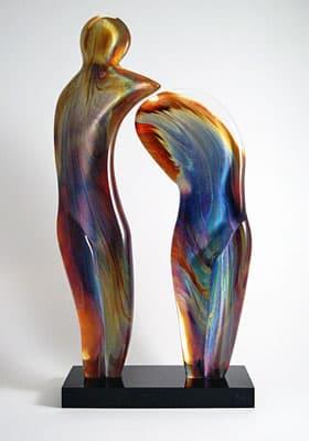 Скульптура «Временное расставание» муранского стекла