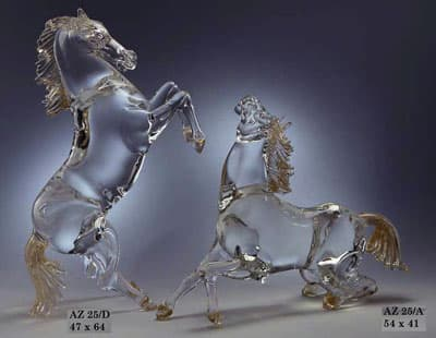 Лошади муранского стекла