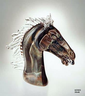 Голова лошади муранского стекла