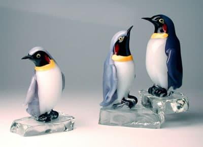Пингвины муранского стекла