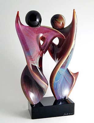 Танцующая пара муранского стекла