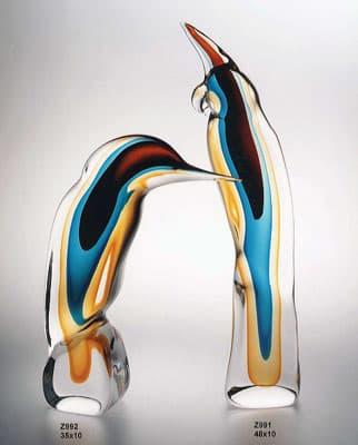 Попугай и дятел муранского стекла